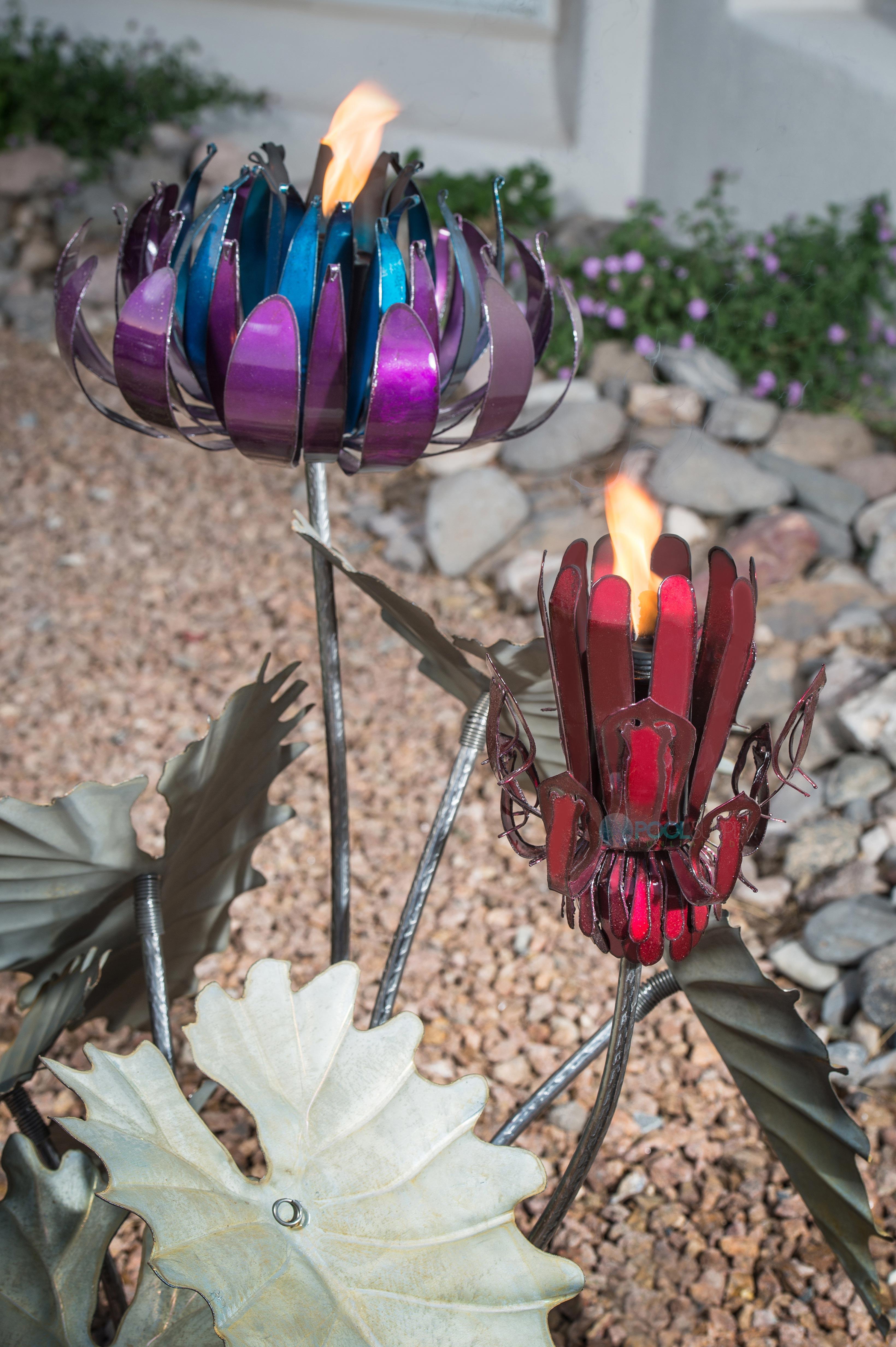 Desert Steel Passion Flower With Torch 453 020vt