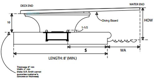 sr smith diving board installation instructions