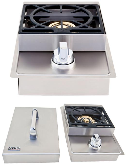 Lion Premium Grills Stainless Steel Single Side Burner | L5631