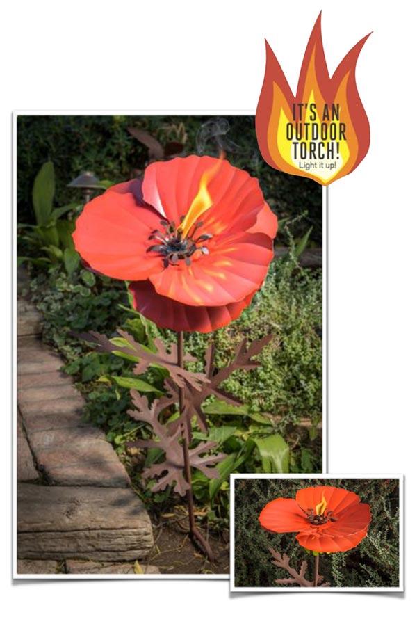 Desert Steel Poppy Garden Torch 409 001