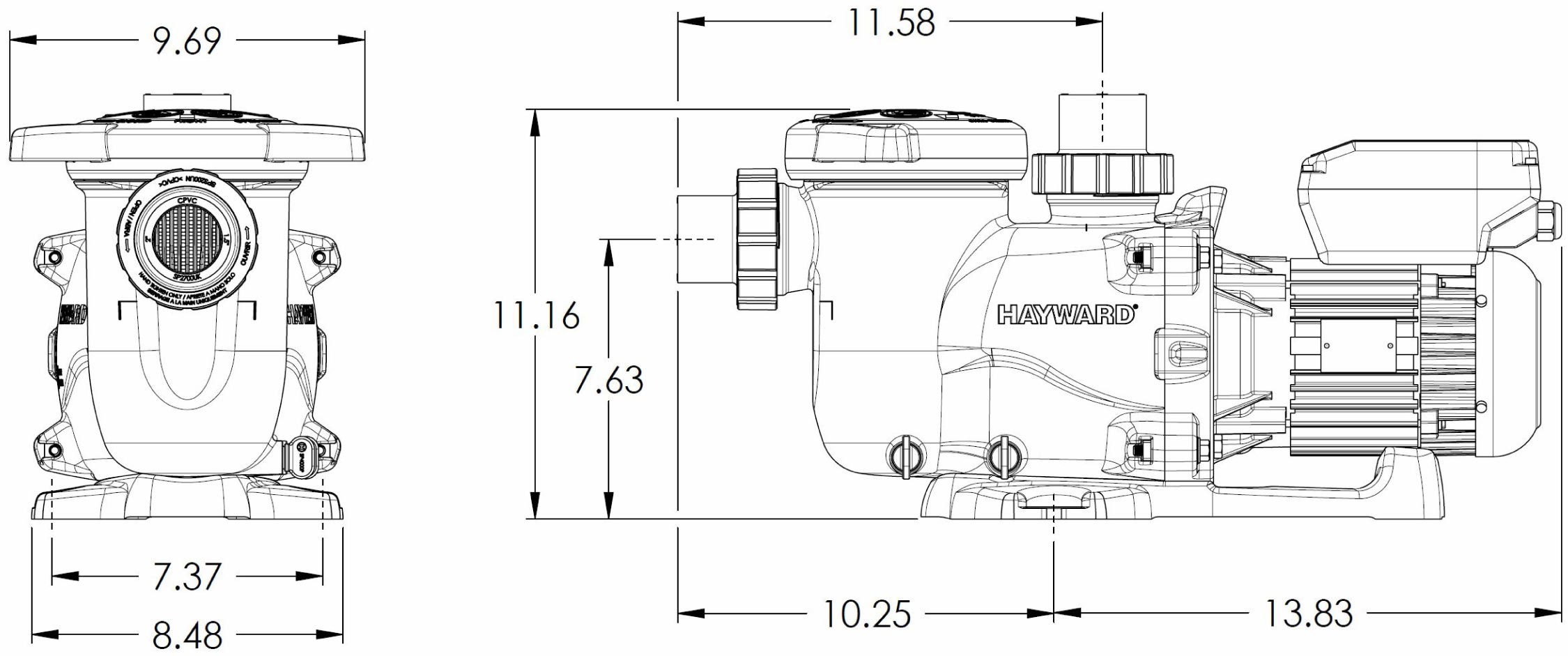 hayward maxflo vs variable speed pool pump