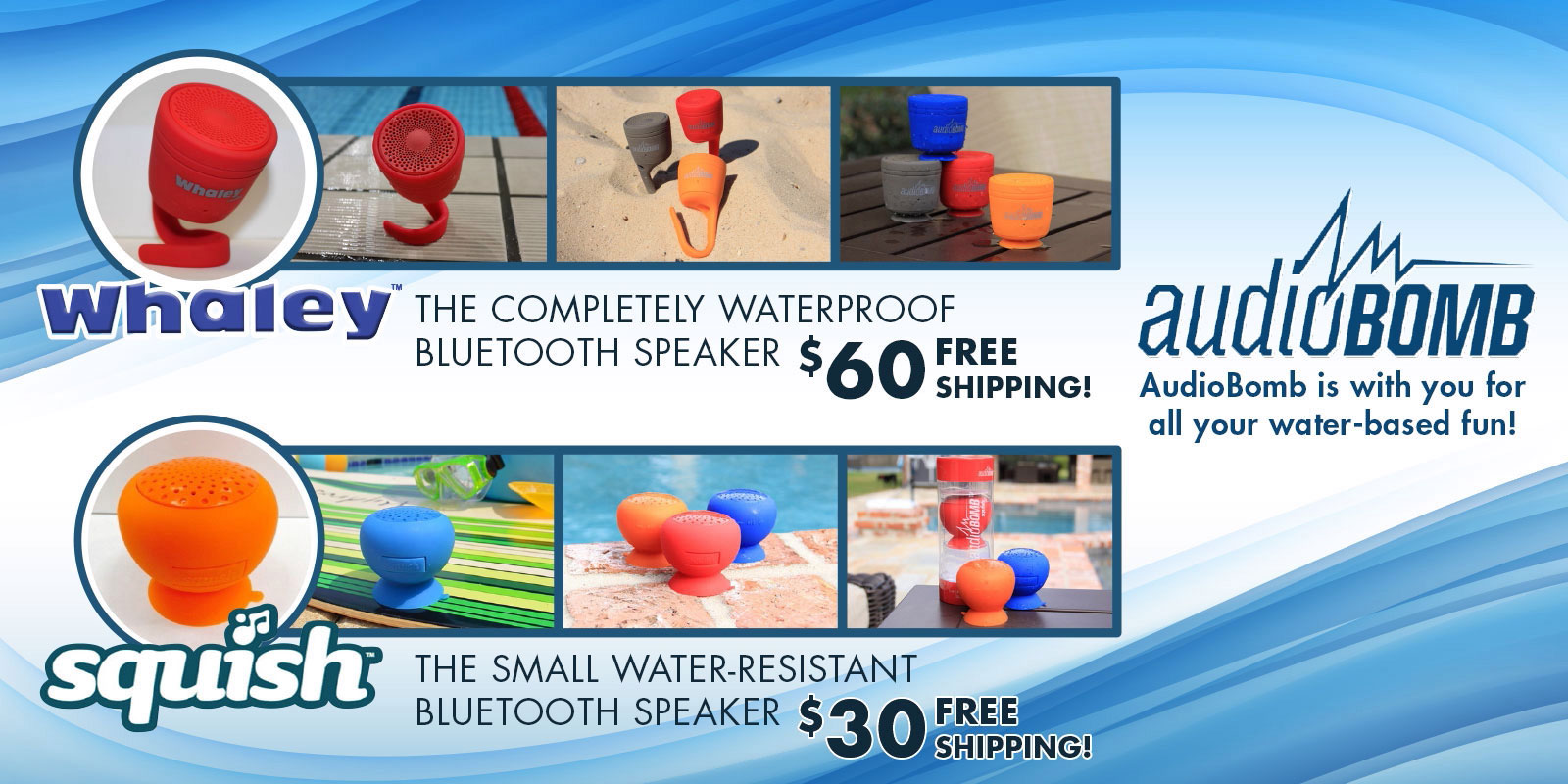 AudioBomb Bluetooth Speakers