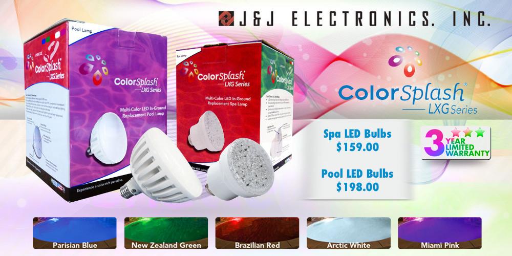 J&J Electronics ColorSplash LXG LED Pool & Spa Lights