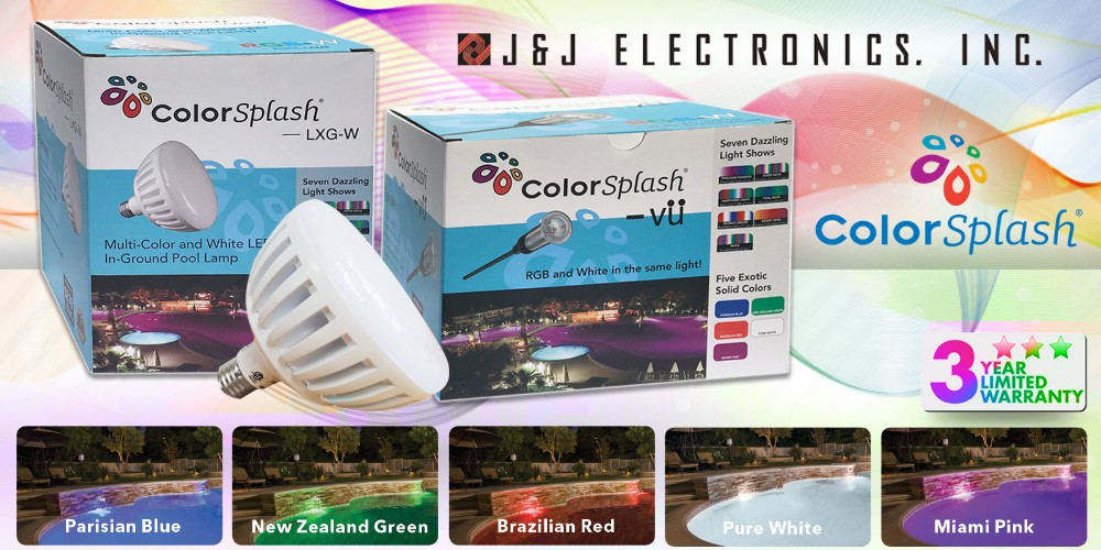 J&J Electronics ColorSplash RGB-W LED Pool & Spa Lights