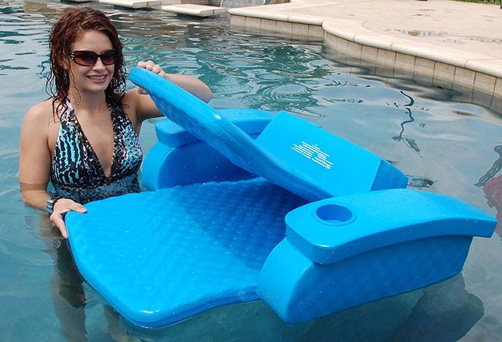 Texas Recreation Baja Ii Folding Lounge Bahama Blue