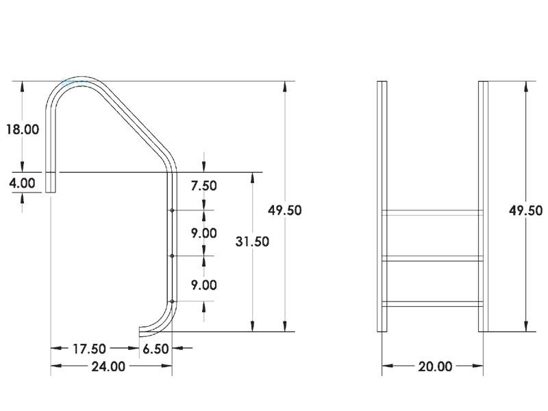 Step Ladder Gs Manufacturers Mail: InterFab 3-Step Economy Ladder