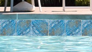 National Pool Tile Oasis Series 6x6 Turquoise Mirage