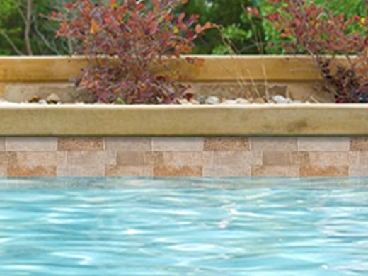 National Pool Tile Sim Stackstone 6x16 Tile Classic