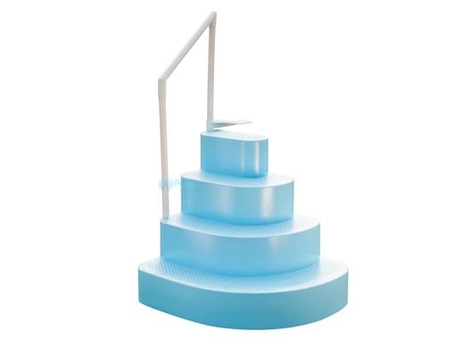Wedding Cake Above Ground Steps Light Blue Ne100bl