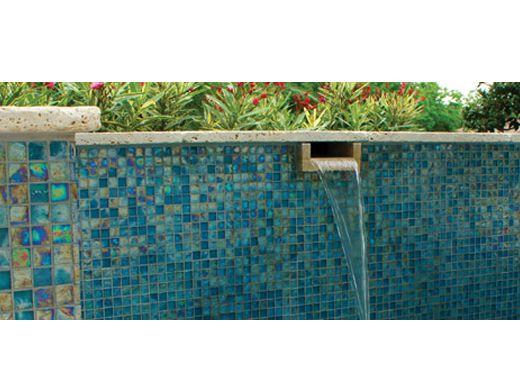 National Pool Tile Arctic 1x1 Glass Pool Tile Lagoon At083