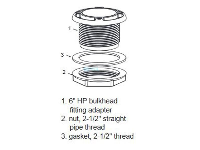Aquastar 6 Quot Bulkhead Adapter 6ha25t20s101