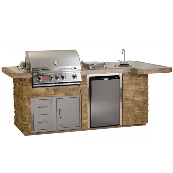 Bull Outdoor Products Bbq Island In Stucco 31014