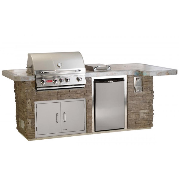 Gourmet Q Outdoor Grill Island By Bull Outdoor Products: Bull Outdoor Products BBQ Island In Rock