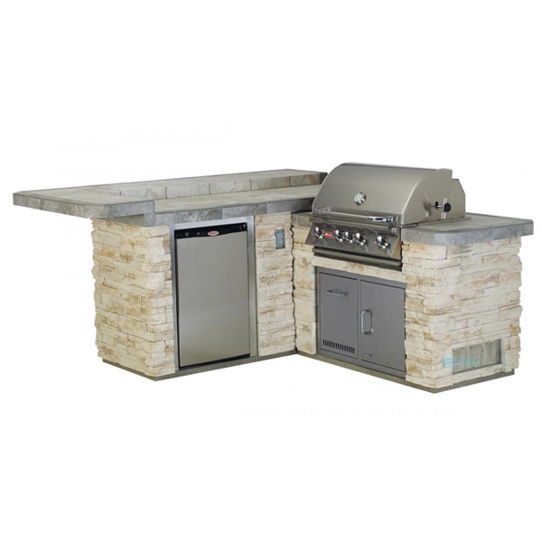 Gourmet Q Outdoor Grill Island By Bull Outdoor Products: Bull Outdoor Products Jr. Gourmet Q Island In Rock Or