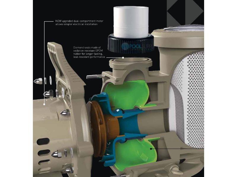 Pentair Whisperfloxf 2hp Energy Efficient 2 Speed Pool Pump 022007