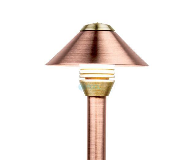Fx Luminaire Bd Led Pathlight Copper Finish 12 Quot Riser