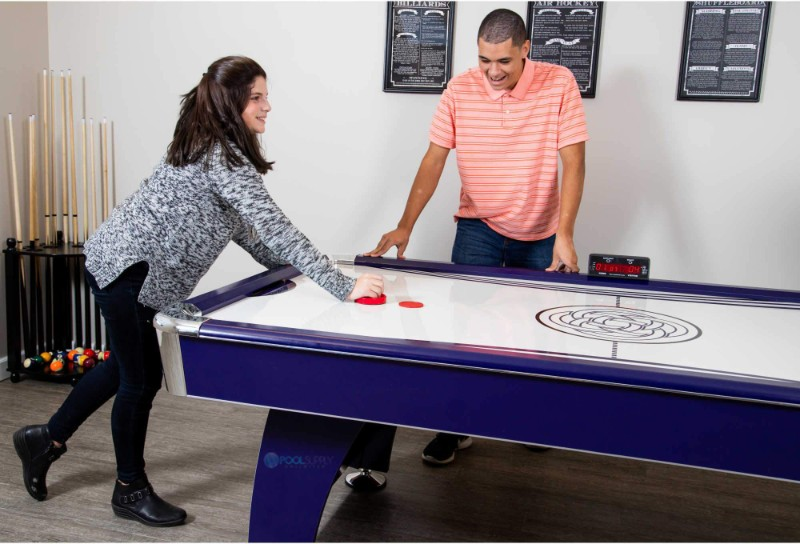 Hathaway Phantom 7 5 Foot Air Hockey Table With Electronic Scoring Dual Blowers And Automatic Return Ng1038h Bg1038h