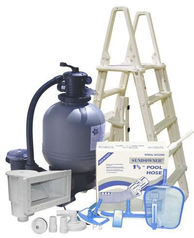 Standard sand filter above ground pool equipment package for Pool filter equipment