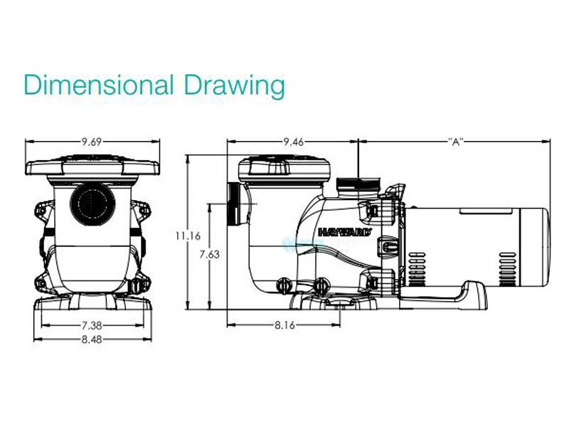Hayward Max-Flo XL Pool Pump 2-Sd 1.5HP 230V | SP2310X152 on