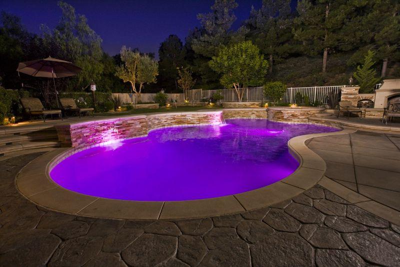 Pool And Spa Purple Led Lighting