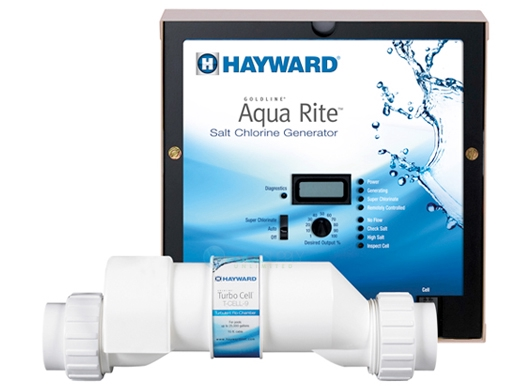Hayward AquaRite Salt Generator Complete 25,000 Gallons | Power Center and Salt Cell Kit | W3AQR9