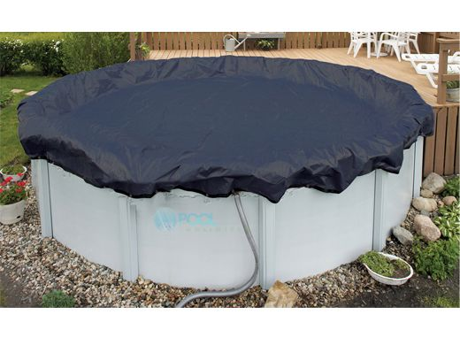 Arctic armor winter cover 18 39 x 30 39 oval for above ground pool 8 year warranty wc730 4 for Swimming pool winter cover clips