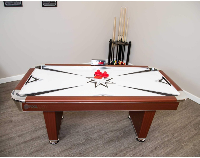 Hathaway Midtown 6 Foot Air Hockey Table With Electronic Scoring And High Powered Blower Ng1037 Bg1037