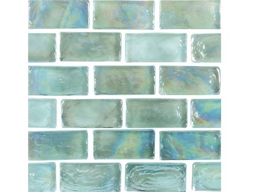 National Pool Tile Arctic 1x2 Glass Series Pool Tile Ice
