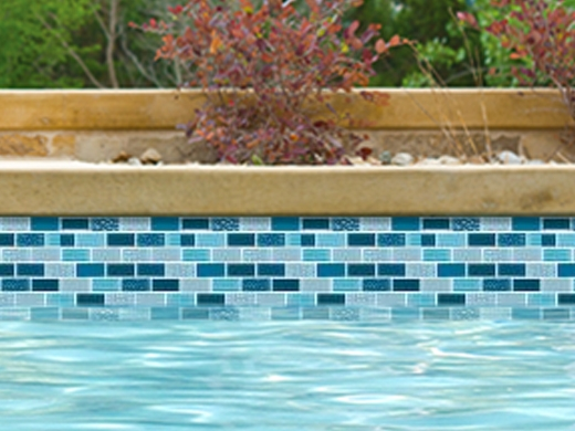 National Pool Tile Essence Glass Pool Tile Es Imperial 1x2