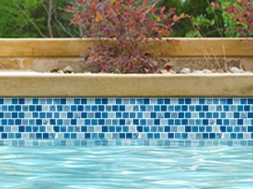 National Pool Tile Soleil 1x1 Glass Series Pool Tile