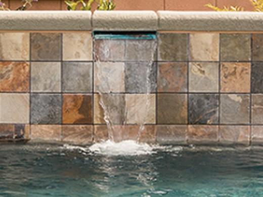 National Pool Tile Himalayan Slate 6x6 Series Multicolor