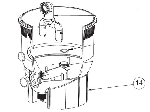 pentair quad de tank bottom assembly
