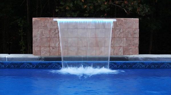 Brilliant Wonders 18 Led Waterfall Back Port 6 Lip 100 Ft Cord White 25677 180 000