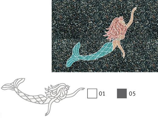Aquastar Fillable Friends 174 Mermaid Stencil Only Gray