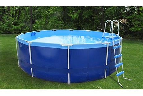 splash a round pools quik swim 16 39 round 48 tall metal frame pool qs1648. Black Bedroom Furniture Sets. Home Design Ideas