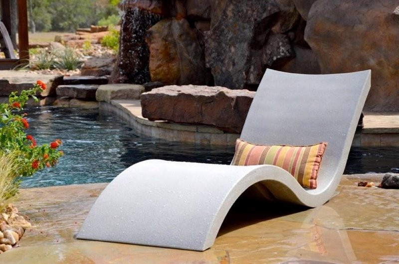 Ledge Lounger Signature Collection Chaise White Ll Sg C W