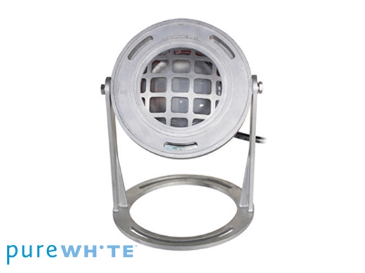 J j electronics purewhite led underwater fountain luminaire base and guard 120v 50 39 cord for Underwater luminaire for swimming pool