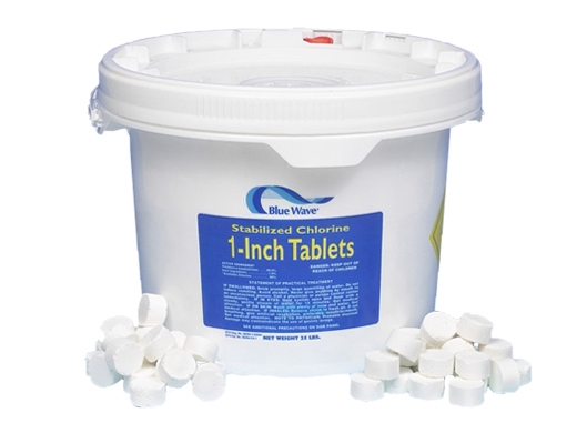 Blue wave 1 chlorinated tablets 50 lbs nc124 for Is chlorine in swimming pools harmful