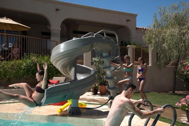 Inter Fab G Force 2 Pool Slide 360 Degree Turn Desert
