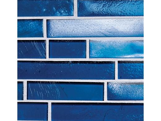 National Pool Tile Aquascapes Interlocking Glass | Sapphire | OCN SAPPHIRE  IS12
