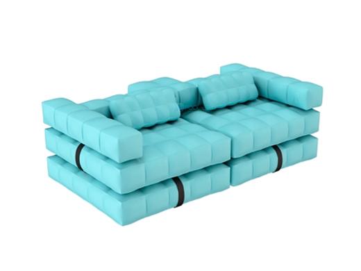 Pigro Felice Modulu0027Air 2 In 1 Inflatable Sofa / Double Lounger Pool Float |  Aqua Blue | 921986 AQUABLUE