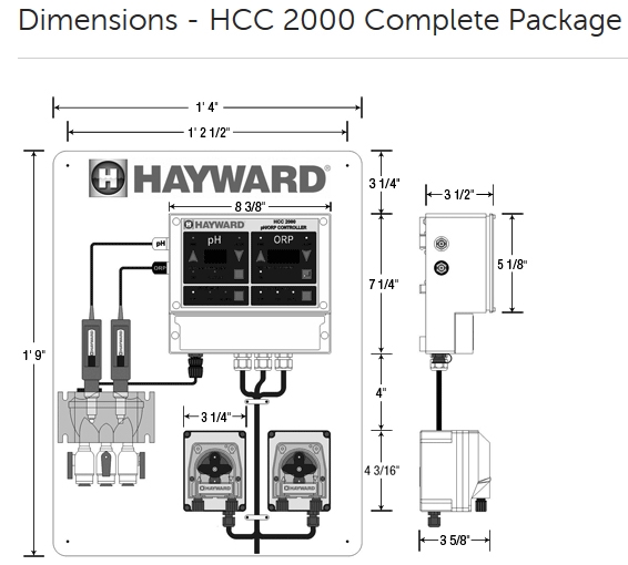 hayward cat 2000 water chemistry controller complete package
