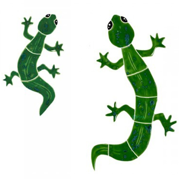 Artistry In Mosaics Gecko Green Mosaic Small 6 Quot X 10