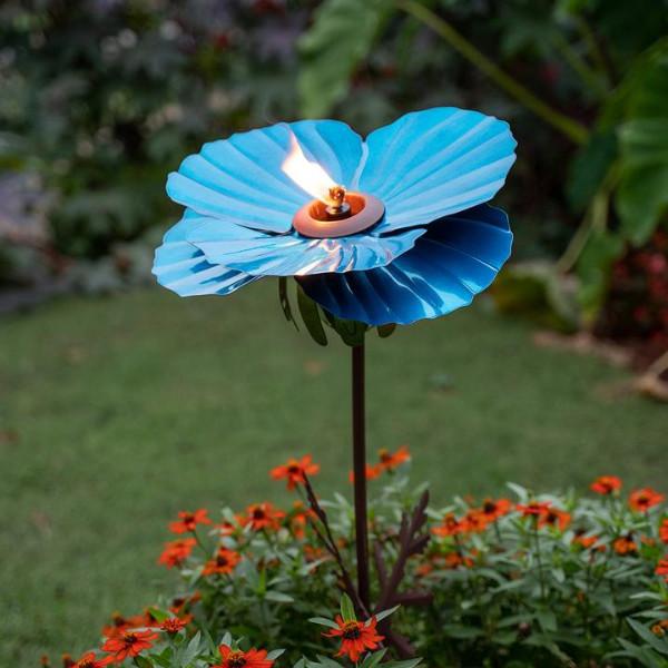 Desert Steel Himalayan Poppy Garden Torch 409 005