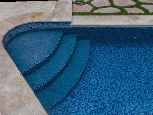 National Pool Tile Fusion Mosaic Glass Tile   Royal Blue   FS-ROYAL