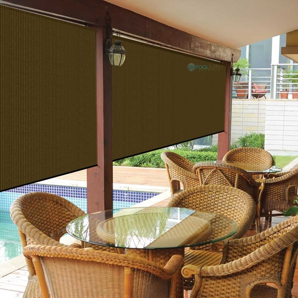 Coolaroo 90 Uv Block Exterior Cordless Sun Shade 4x6 Foot Mocha 462123
