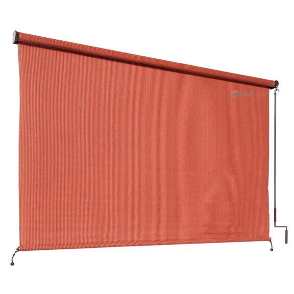 Coolaroo 90 Uv Block Exterior Cordless Sun Shade 6x6 Foot Terracota 461997