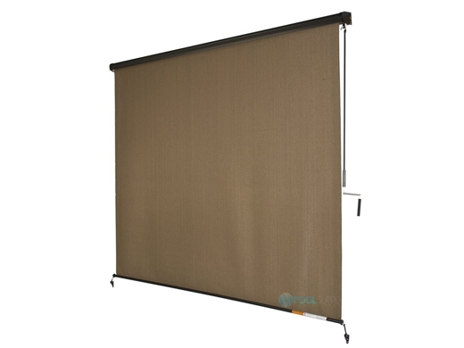 coolaroo 90 uv block exterior cordless sun shade with valance 8x8 foot cocoa 472443