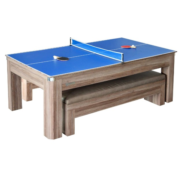 Hathaway Newport 7-Foot Pool Table Combo Set with Benches ...