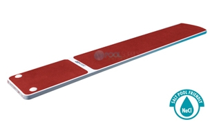 SR Smith TrueTread Series Diving Board | 8' White with Red Top Tread | 66-209-578S2R